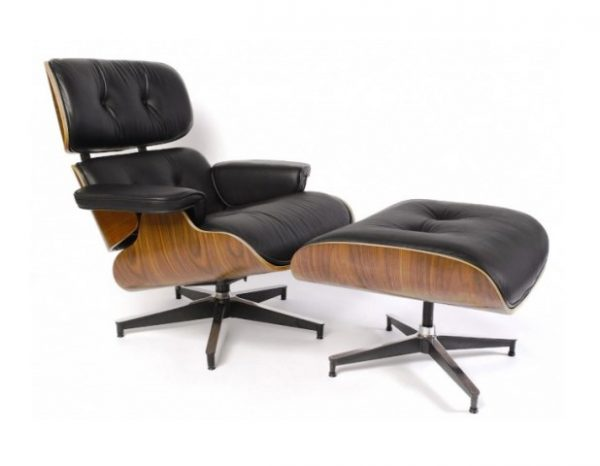 Coal Harbour Lounger & Ottoman - Black